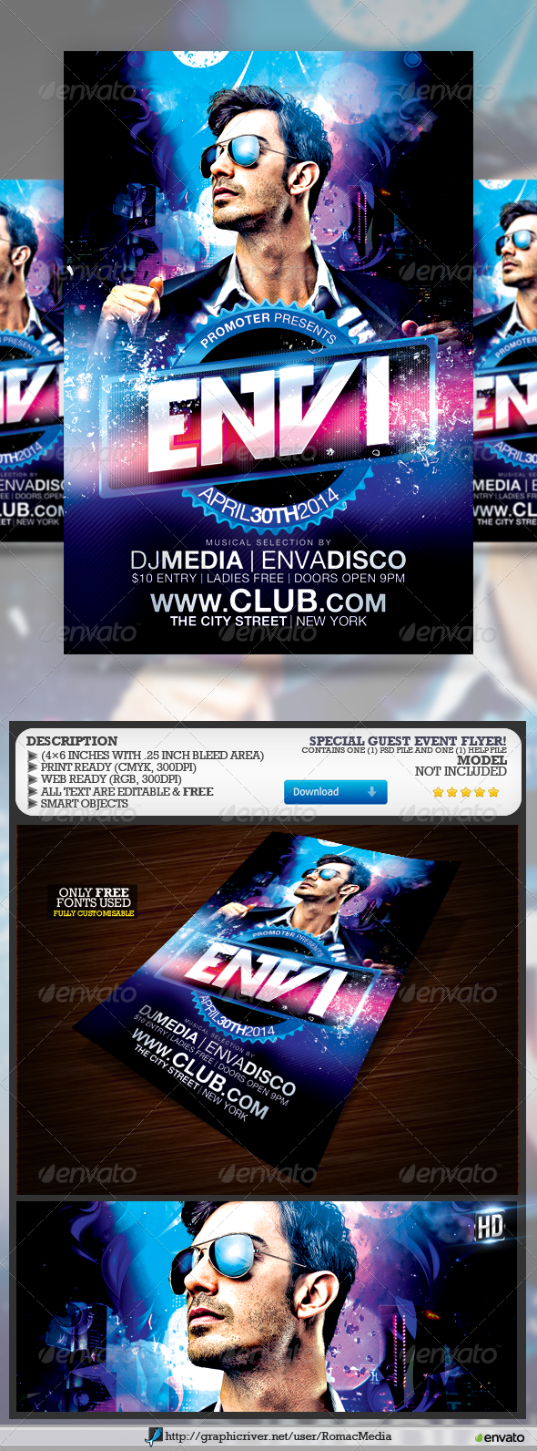 GraphicRiver Special Guest Event Flyer 7402994