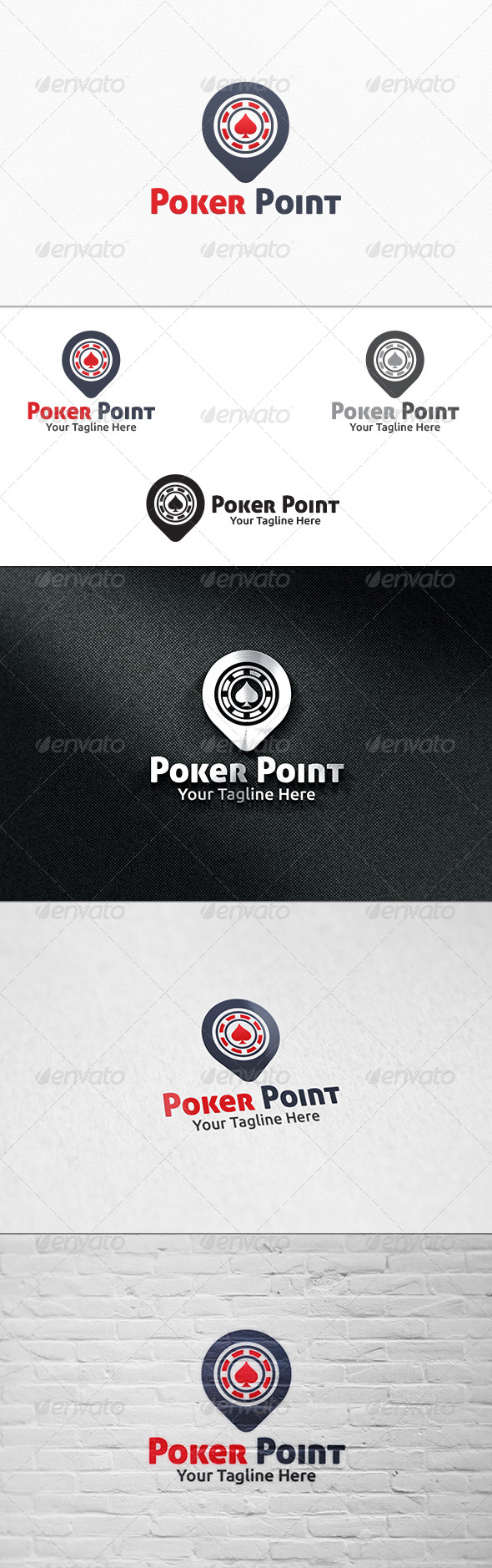 GraphicRiver Poker Point Logo Template 7403470