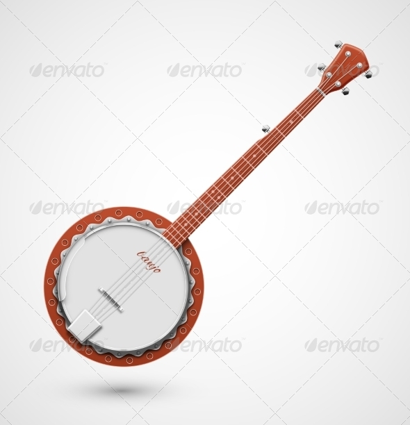 GraphicRiver Isolated Banjo 7403537