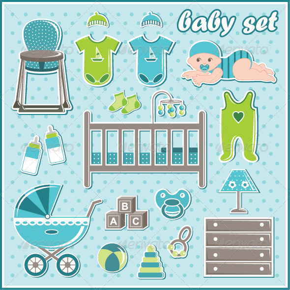 GraphicRiver Set of Baby Boy Icons 7403549