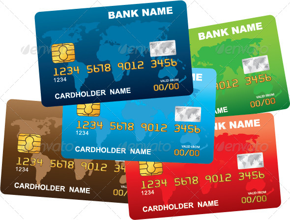 GraphicRiver Illustration of Plastic Credit Cards 7403616
