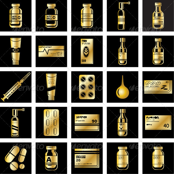 GraphicRiver Set of Medicament Symbols 7403630