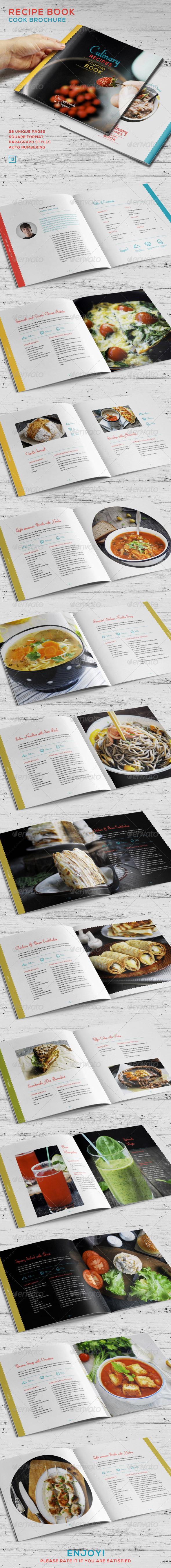 GraphicRiver Recipe Book Cook Brochure 7403652