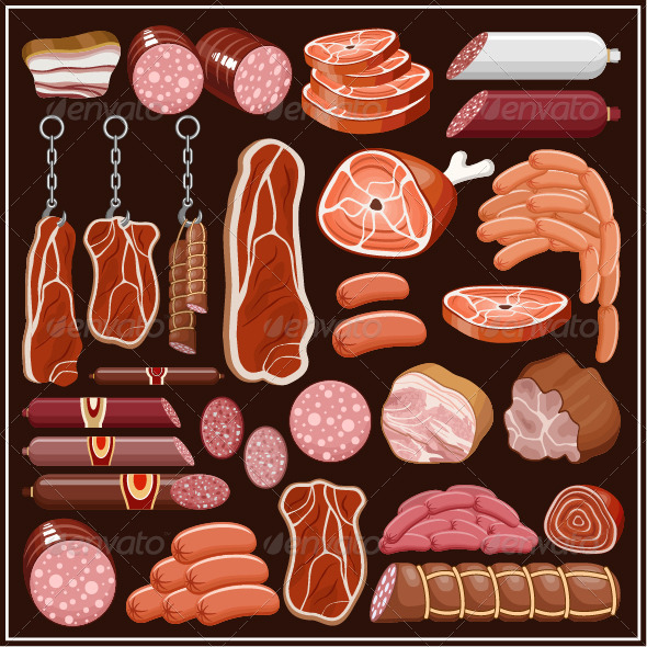 GraphicRiver Set of Meat Products 7403806