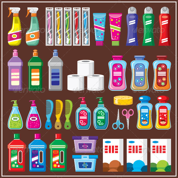 GraphicRiver Set of Household Chemicals 7403873