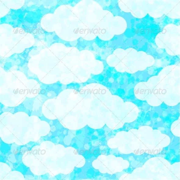 GraphicRiver Seamless Pattern with Clouds 7403889