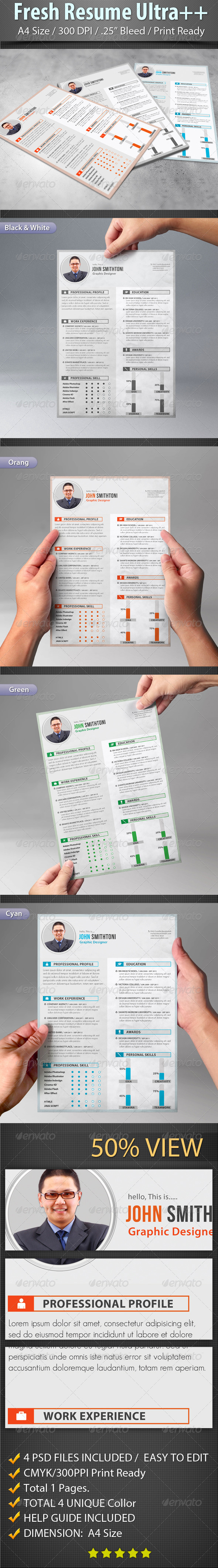 GraphicRiver Fresh Resume Ultra&& 7403935