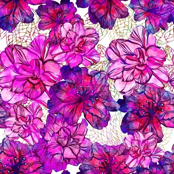 GraphicRiver Seamless Abstract Flowers Pattern 7403938