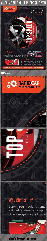 GraphicRiver Auto Mobile Multipurpose Flyer 01 7404013