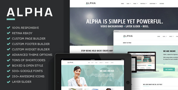 ThemeForest Alpha Flexible Ultra Responsive WordPress Theme 6389110