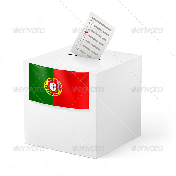 GraphicRiver Ballot Box with Voting Paper Portugal 7404399