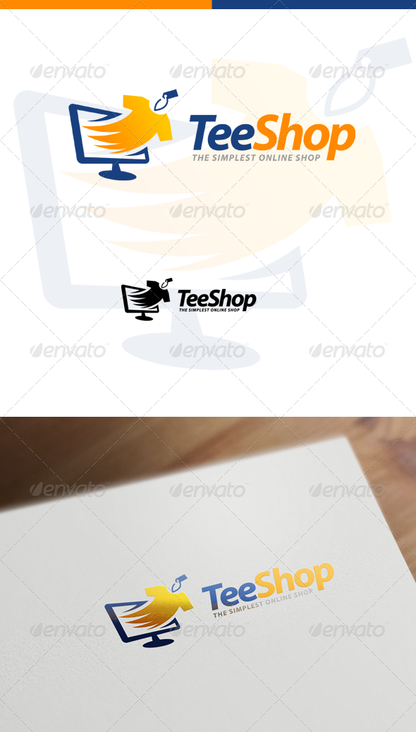 GraphicRiver TeeShop Retail Online Shop & Apparel Store Logo 7404686
