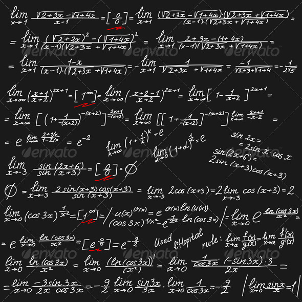 GraphicRiver Background with Mathematical Symbols 7404802
