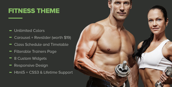ThemeForest Fitness Premium Gym WordPress Theme 7404913