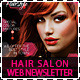 Hair Salon Fashion Style Web Newsletter - GraphicRiver Item for Sale