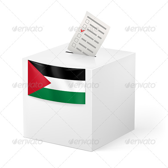 GraphicRiver Ballot Box with Voting Paper Palestine 7405284