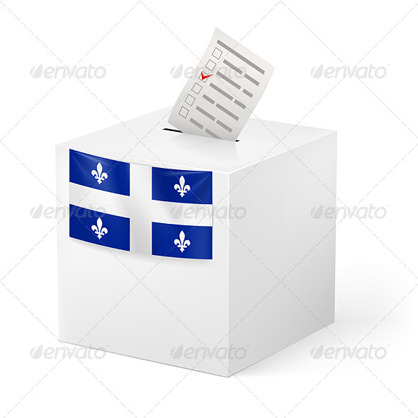 GraphicRiver Ballot Box with Voting Paper Quebec 7405743