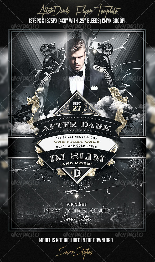 GraphicRiver AfterDark Flyer Template 7405902