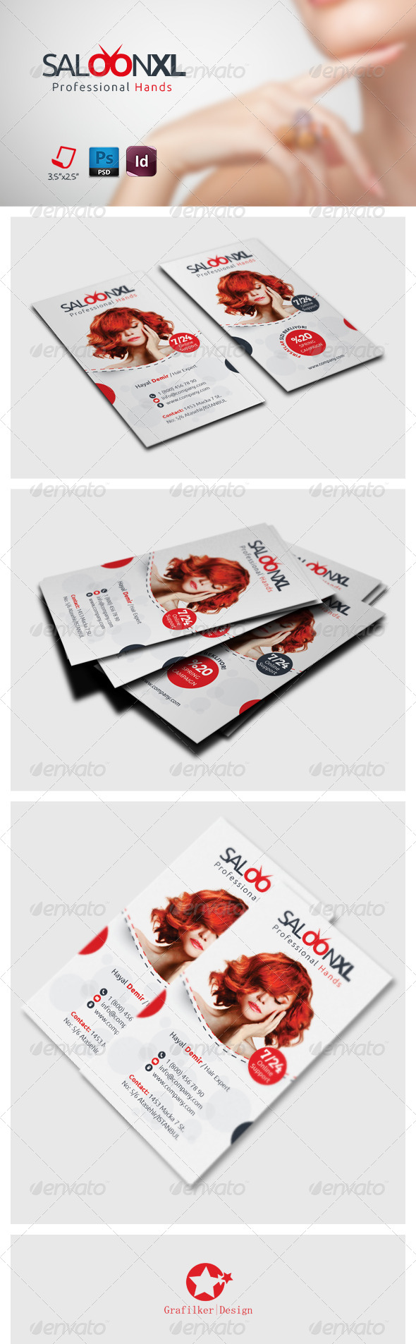GraphicRiver Saloon Business Card Template 7406024