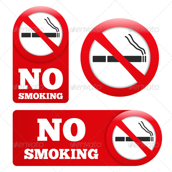 GraphicRiver No Smoking Signs 7406064