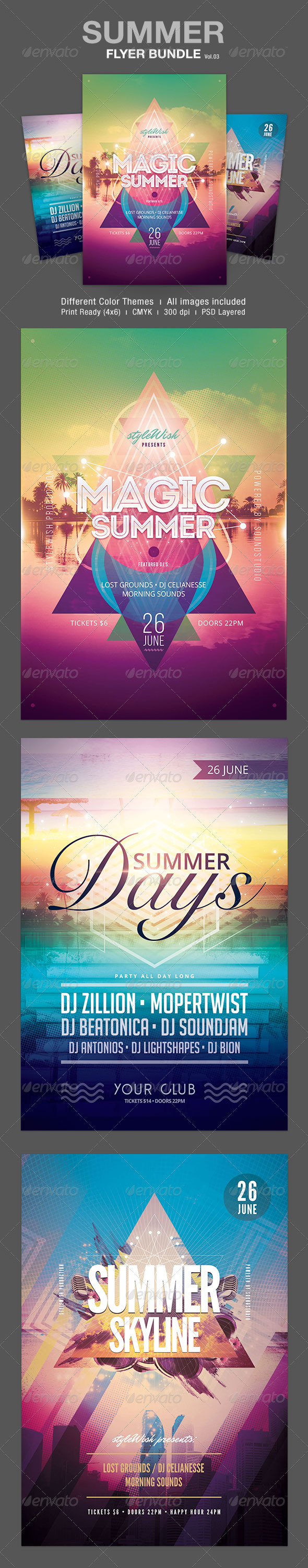 GraphicRiver Summer Flyer Bundle Vol.03 7406503