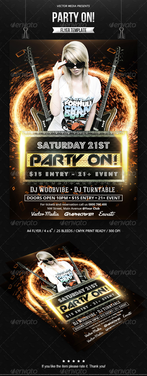 GraphicRiver Party On Flyer 7406516