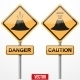 Warning Road Signs About the Dangers of Volcano - GraphicRiver Item for Sale