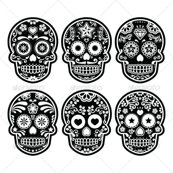 GraphicRiver Mexican Sugar Skull Dia De Los Muertos 7406639