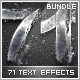 71 Premium Text Effects Styles Bundle - GraphicRiver Item for Sale