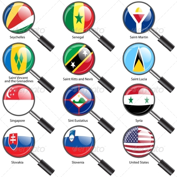 GraphicRiver Flags of World Sovereign States Magnifying Glass 7407192