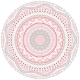 Decorative Pink and Blue Round Pattern Frame - GraphicRiver Item for Sale