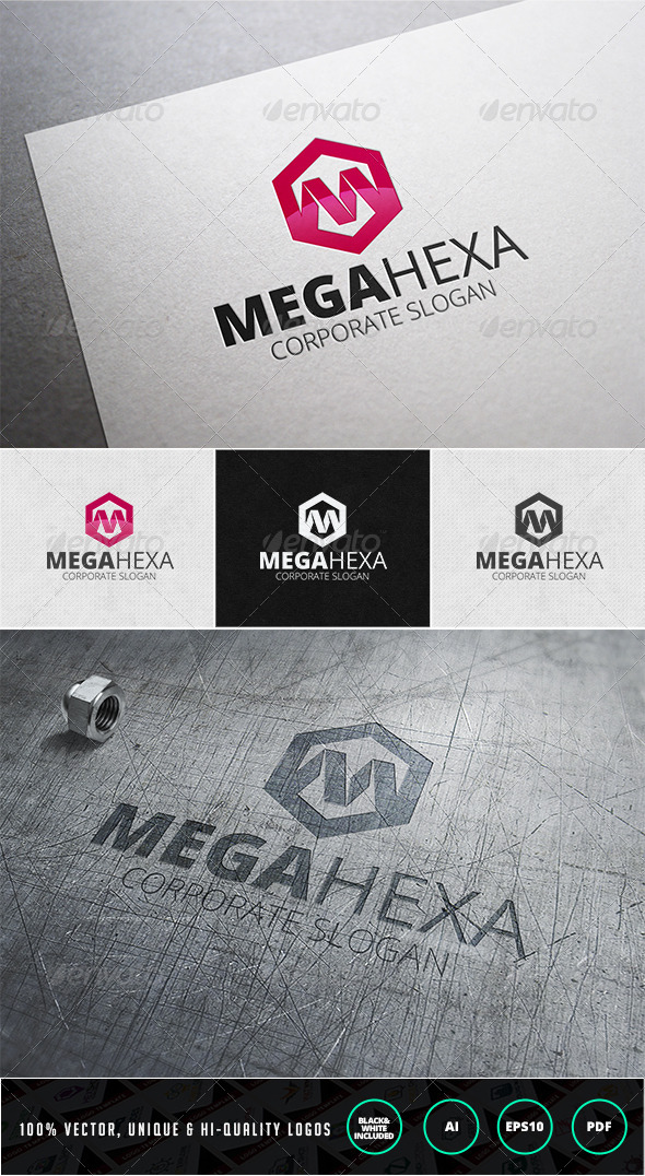 GraphicRiver Mega Hexa Logo Template 7407551