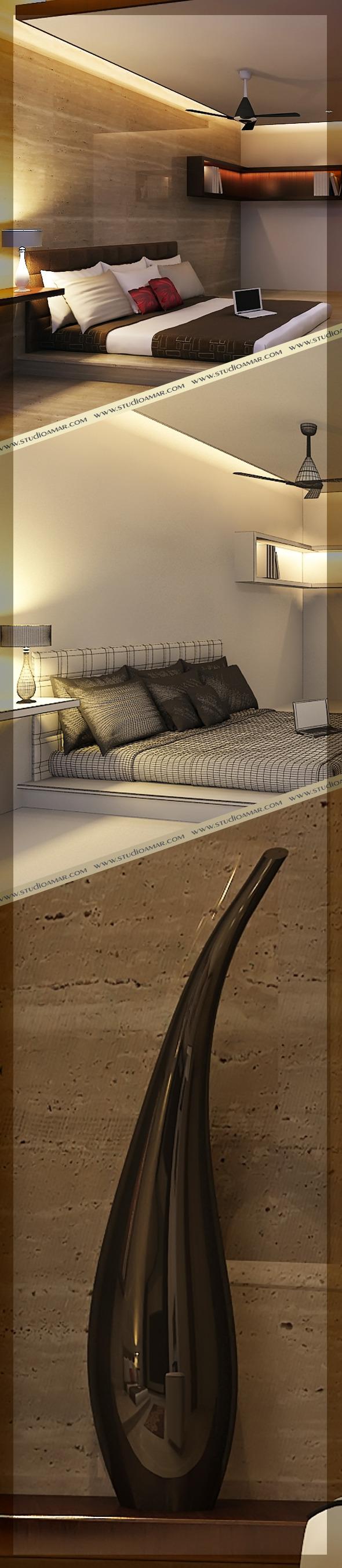 3DOcean Realistic Bed Room 122 7407703