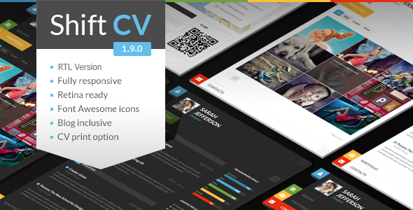 Theme de WordPress Estilo Flat: ShiftCV