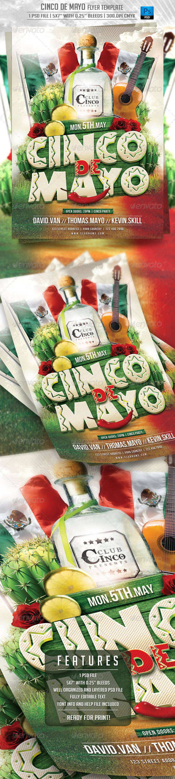 GraphicRiver Cinco de Mayo Flyer Template 7407753