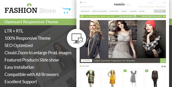 ThemeForest Fashion Store Responsive Opencart Theme 7408375