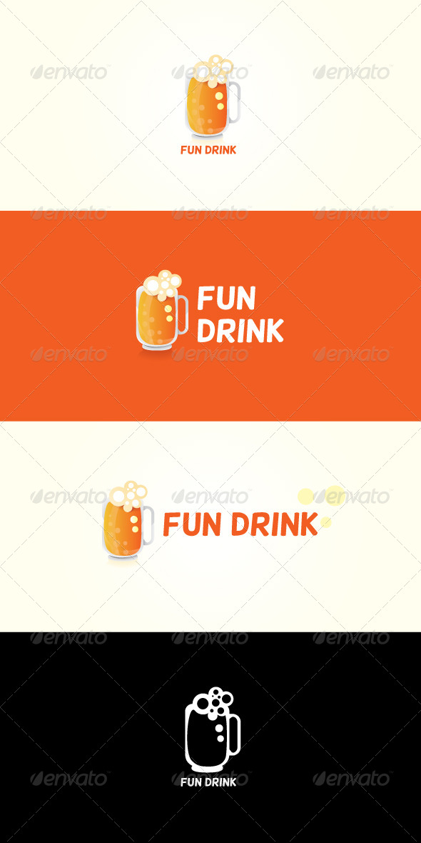 GraphicRiver Fun Drink Stock Logo Template 7408483