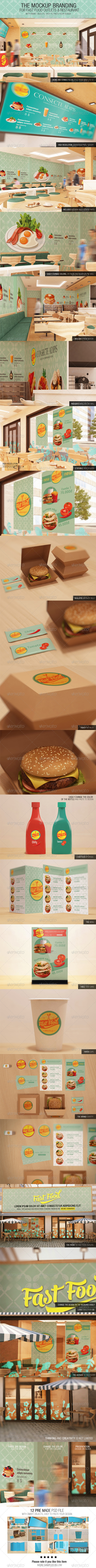 GraphicRiver The Mockup Branding For Fast Food Outlets 7408488