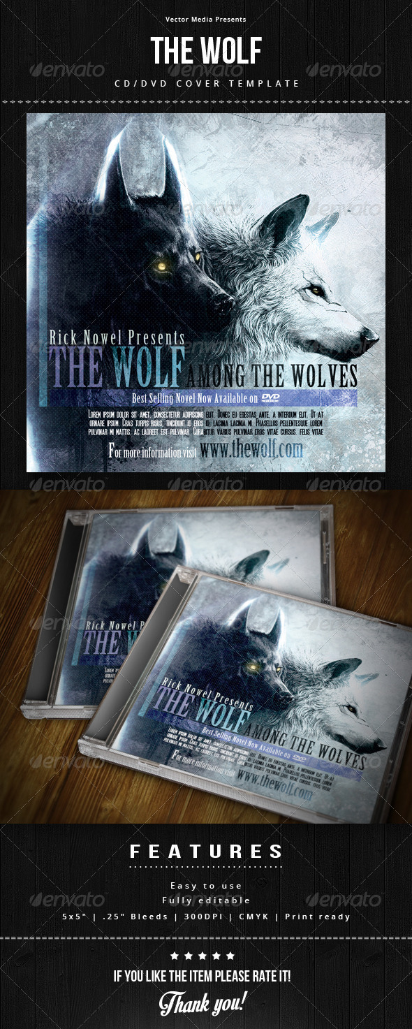 GraphicRiver The Wolf Cd Cover 7383354