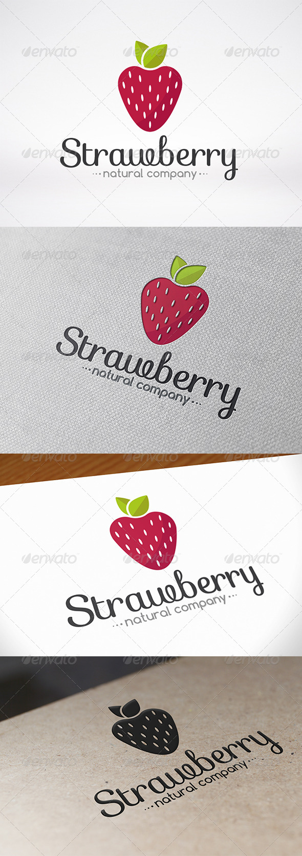 GraphicRiver Strawberry Logo Template 7408637