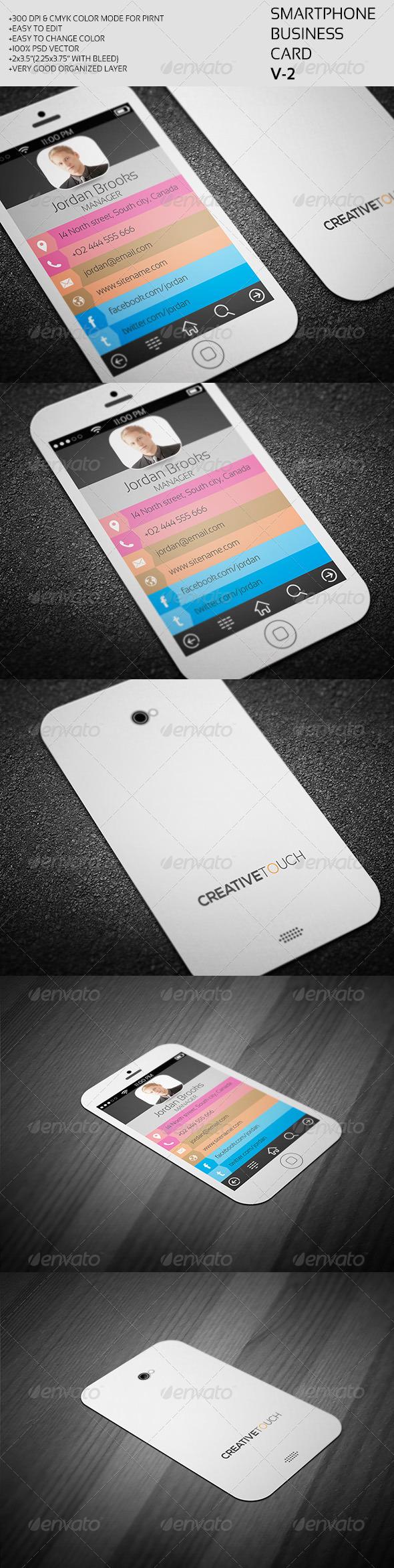 GraphicRiver Smartphone Business Card V-2 7383951