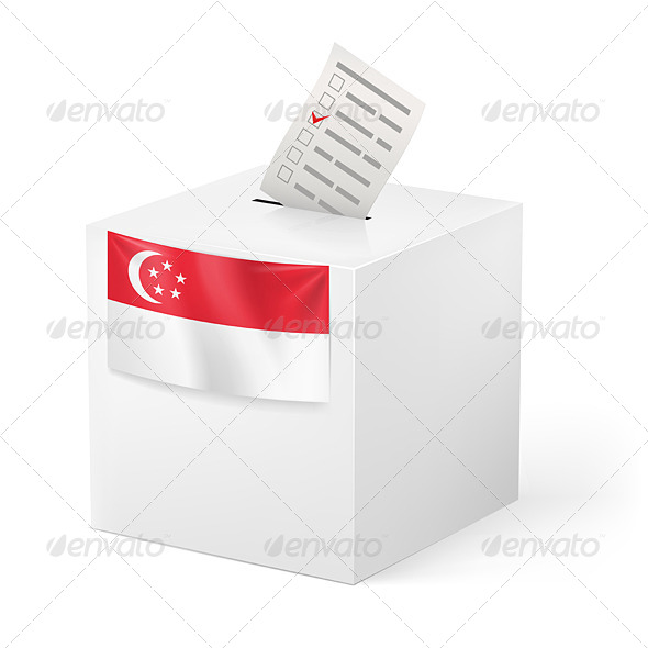 GraphicRiver Ballot Box with Voting Paper Singapore 7408820