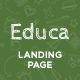Educa - Education Landing Page Template - ThemeForest Item for Sale