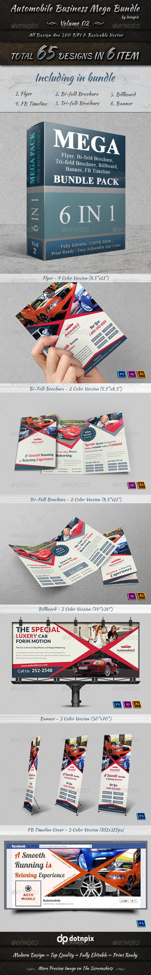 GraphicRiver Automobile Business Mega Bundle Volume 2 7409160