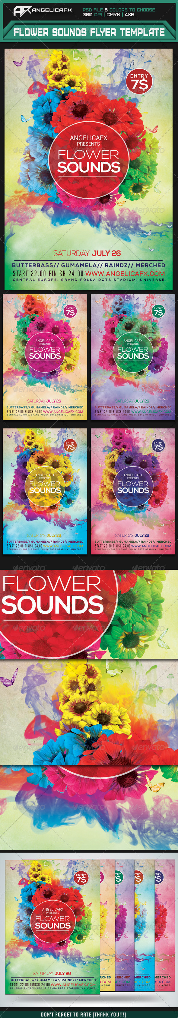 GraphicRiver Flower Sounds Flyer Template 7409483