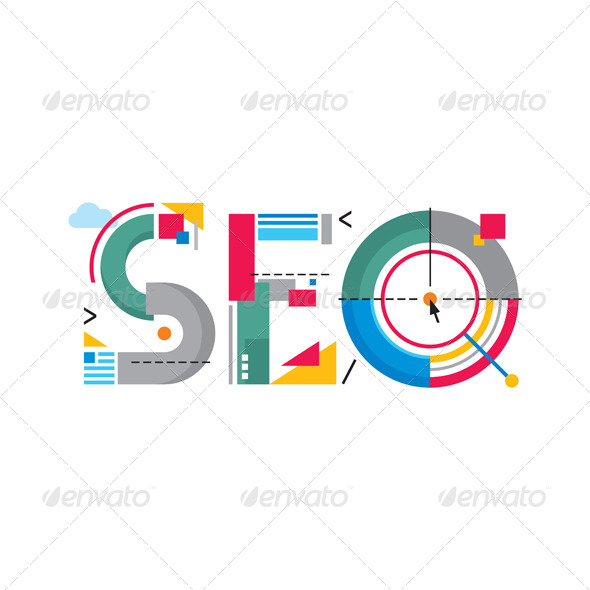 GraphicRiver SEO Word Logo Sign 7409731