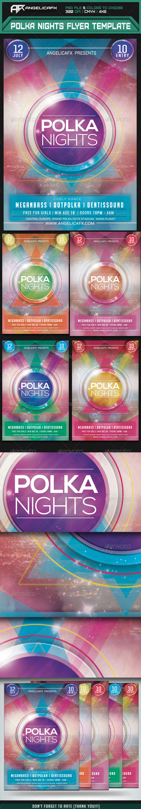 GraphicRiver Polka Nights Flyer Template 7333965
