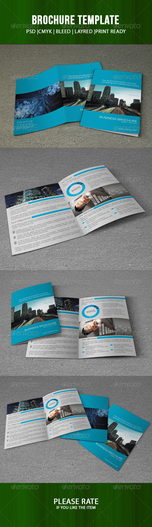 GraphicRiver Bifold Brochure-Business 7410024