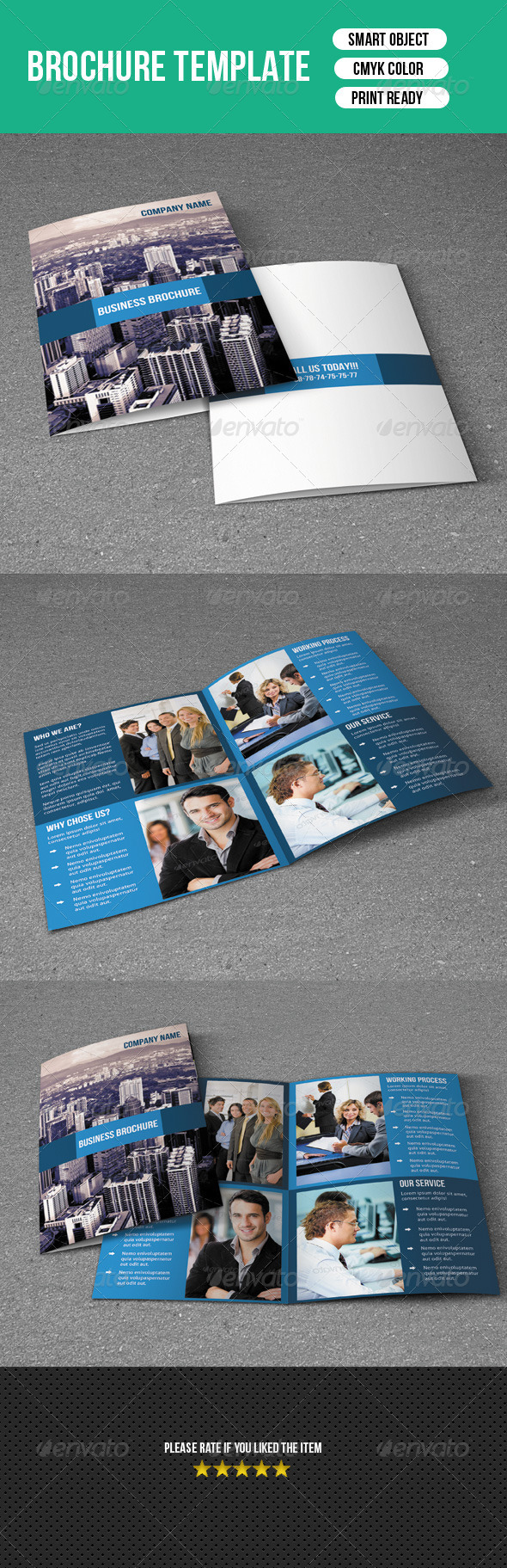 GraphicRiver Bifold Brochure-Business 7410049
