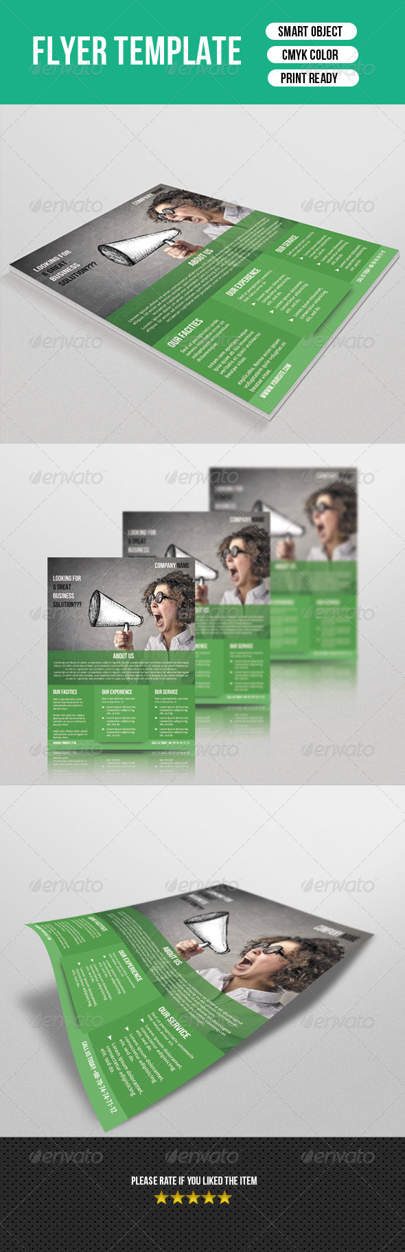 GraphicRiver Corporate Flyer Template 7410053